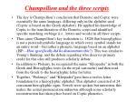 champollion and the three scripts
