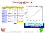 effective tagging efficiency q q e 1 2w 2