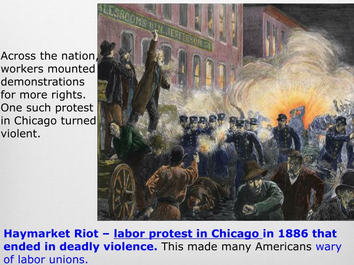 haymarket riot started by labor unions in 1886