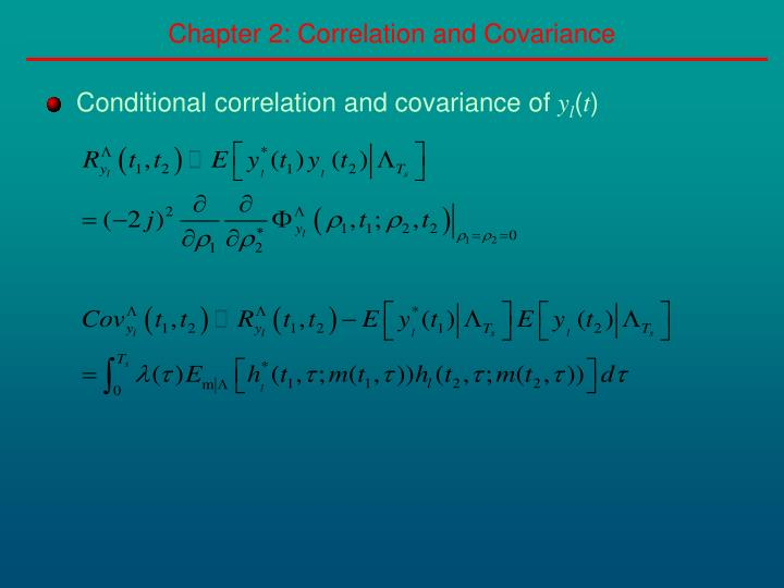 Chapter 2: Correlation and Covariance