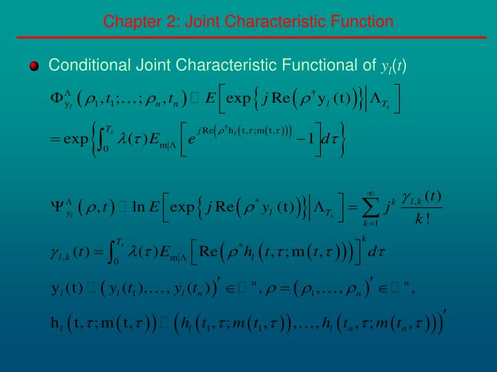 Chapter 2: Joint Characteristic Function