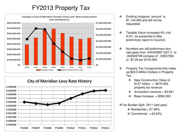 FY2013 Property Tax