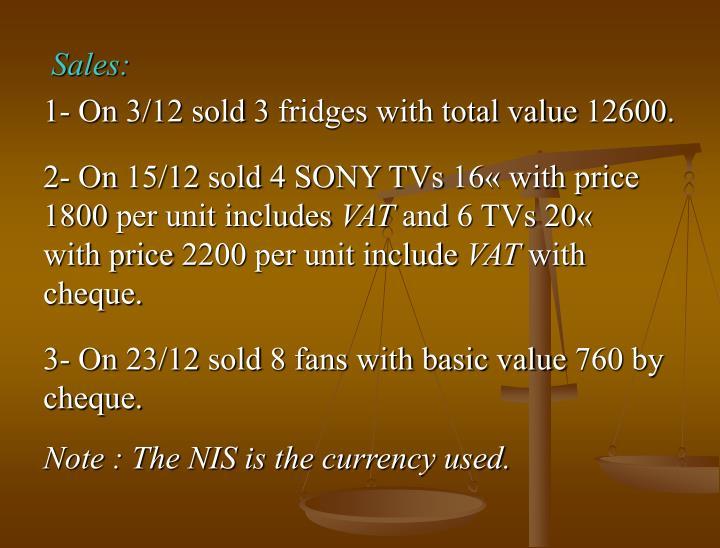 Sales: