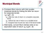 municipal bonds1