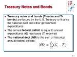 treasury notes and bonds