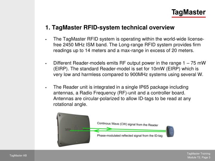 1 tagmaster rfid system technical overview