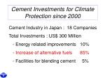 cement investments for climate protection since 2000