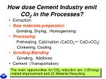 how dose cement industry emit co 2 in the processes