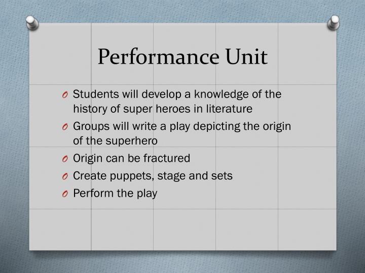 Performance Unit