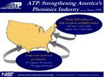 atp strengthening america s photonics industry since 1998