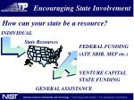 encouraging state involvement