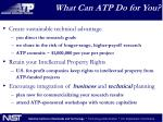 what can atp do for you