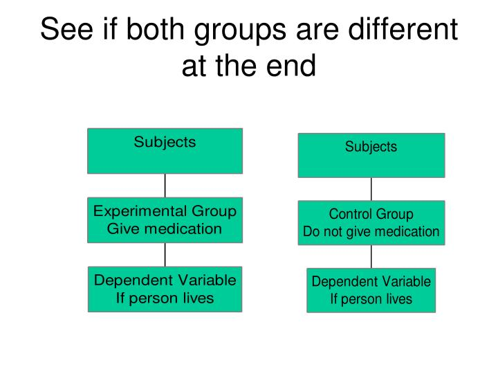 See if both groups are different at the end