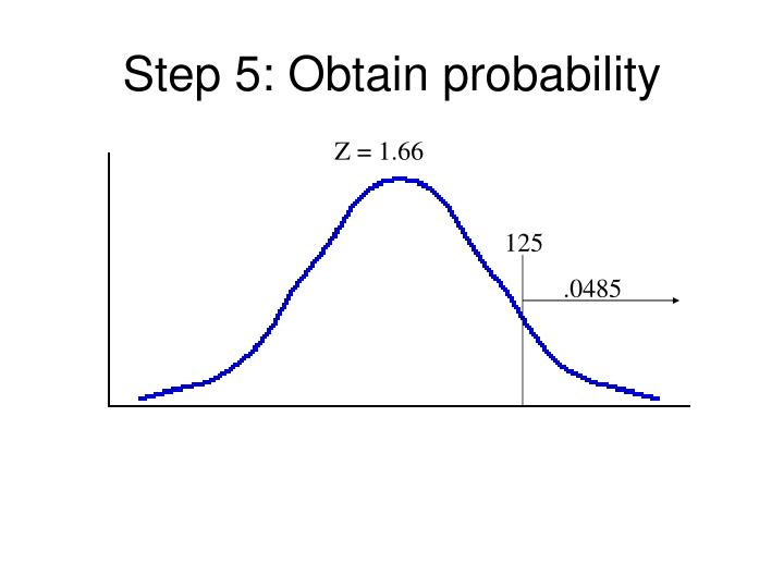 Step 5: Obtain probability