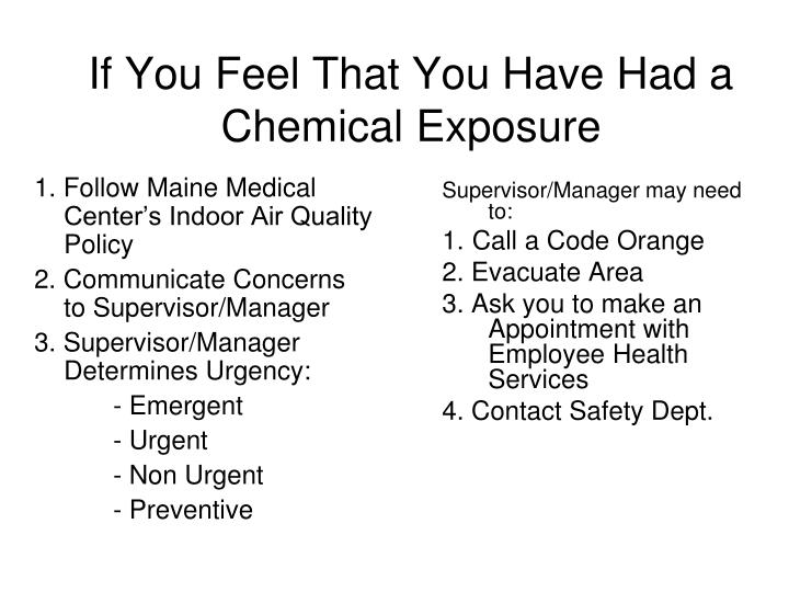 1. Follow Maine Medical Center's Indoor Air Quality Policy
