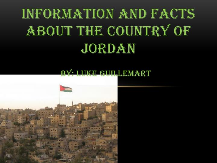 country of jordan facts