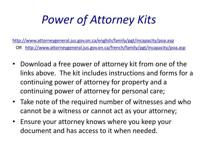 Power of Attorney Kits