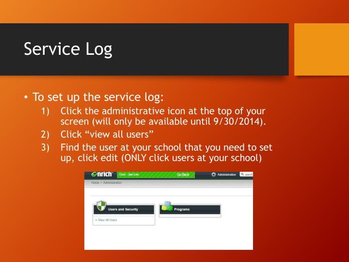 Service Log