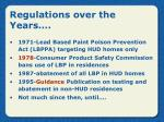 regulations over the years
