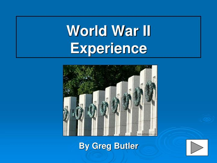world war ii experience n.