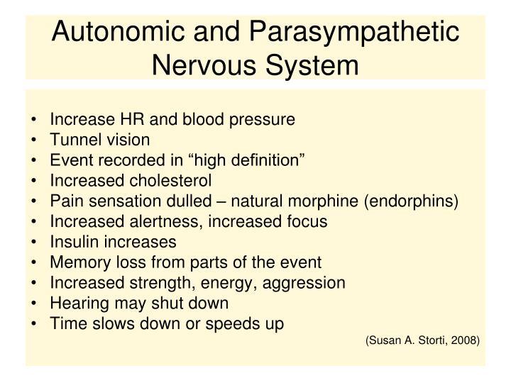 Autonomic and Parasympathetic Nervous System