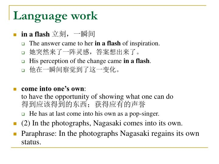 Language work