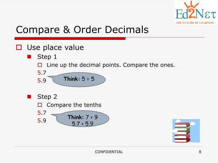 Compare & Order Decimals