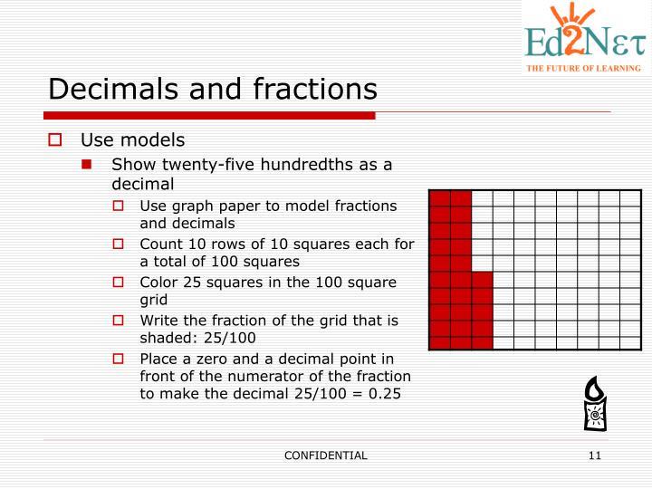 Decimals and fractions