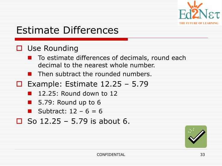 Estimate Differences