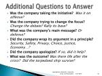 additional questions to answer