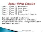 bonus points exercise