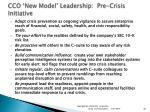 cco new model leadership pre crisis initiative