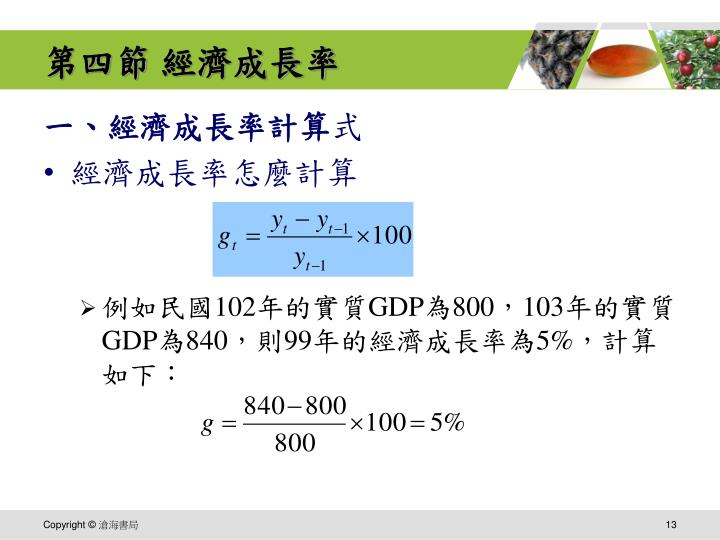 第四節 經濟成長率