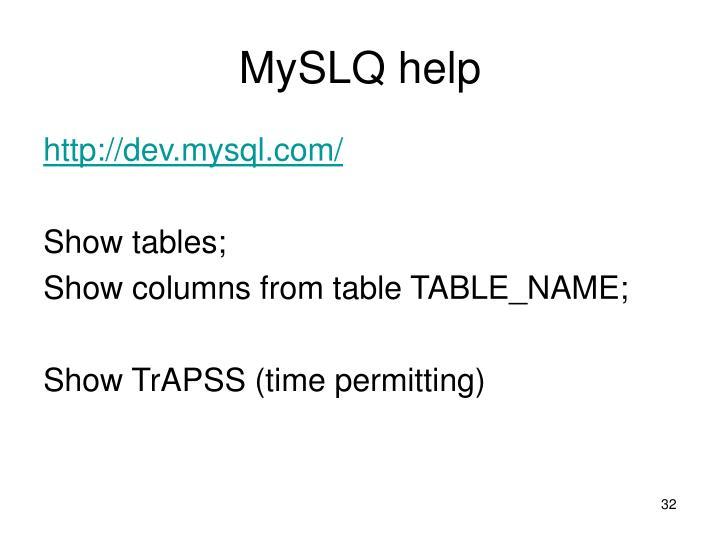 MySLQ help