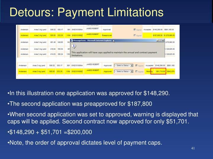 Detours: Payment Limitations