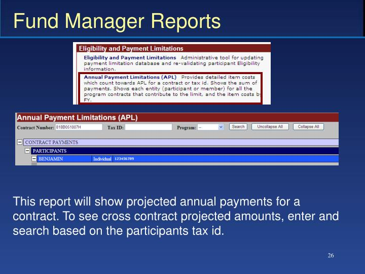 Fund Manager Reports
