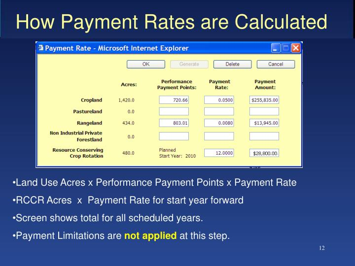 How Payment Rates are Calculated