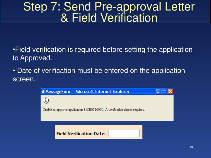 Step 7: Send Pre-approval Letter
