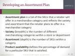 developing an assortment plan