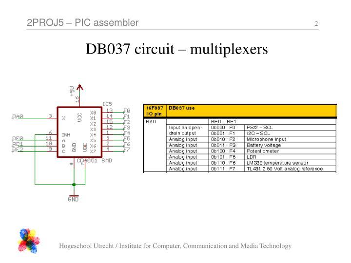 Db037 circuit multiplexers