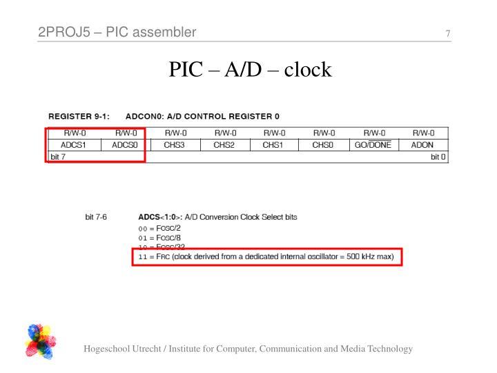 PIC – A/D – clock