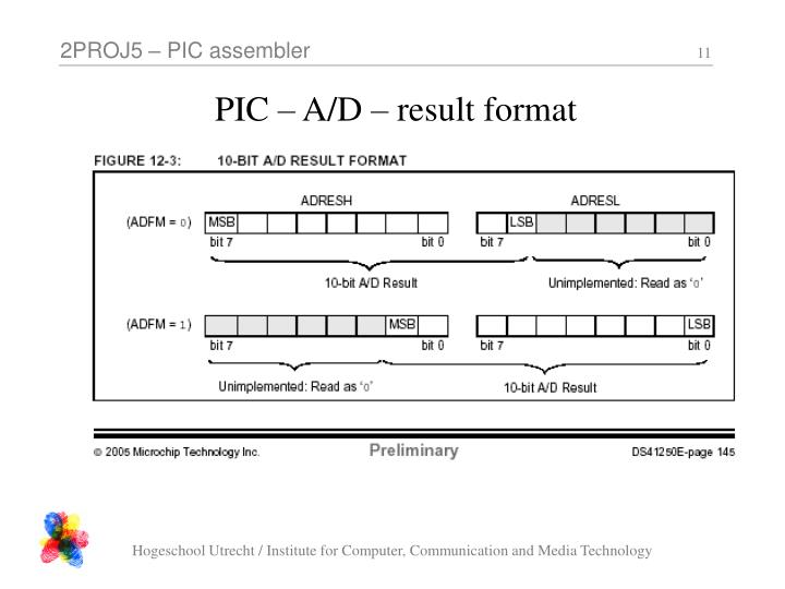 PIC – A/D – result format