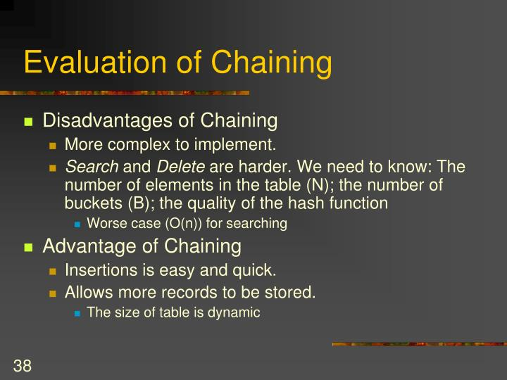 Evaluation of Chaining