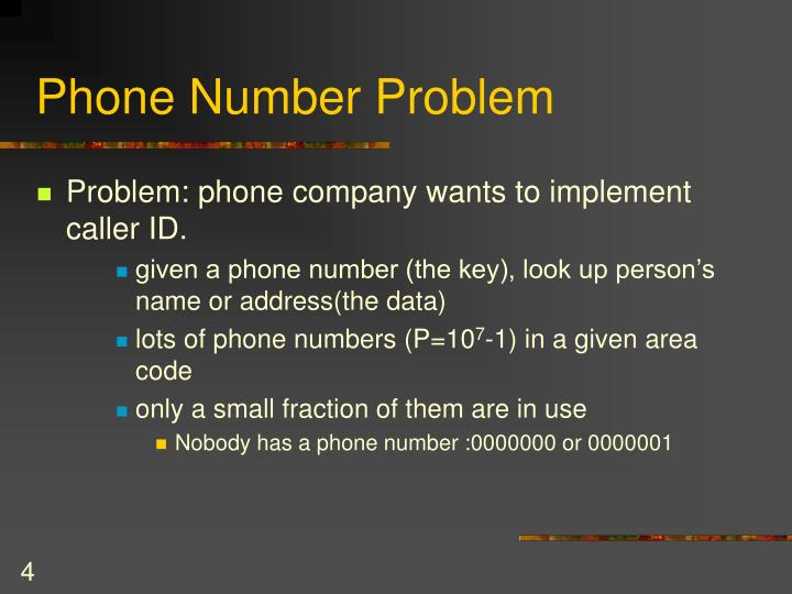 Phone Number Problem