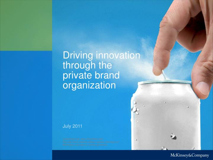 driving innovation through the private brand organization n.