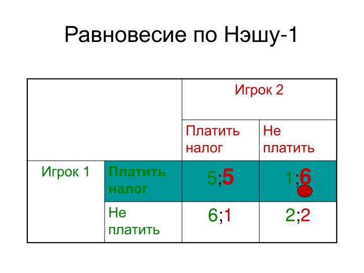 Равновесие по Нэшу-1