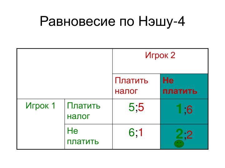 Равновесие по Нэшу-4