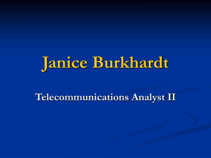 Janice burkhardt