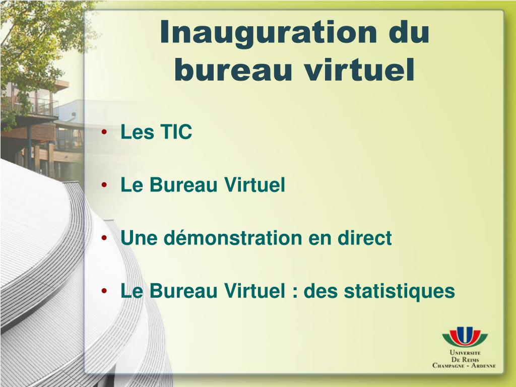 Ppt Inauguration Du Bureau Virtuel Powerpoint Presentation