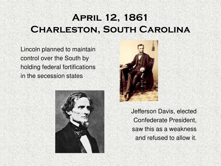 April 12 1861 charleston south carolina